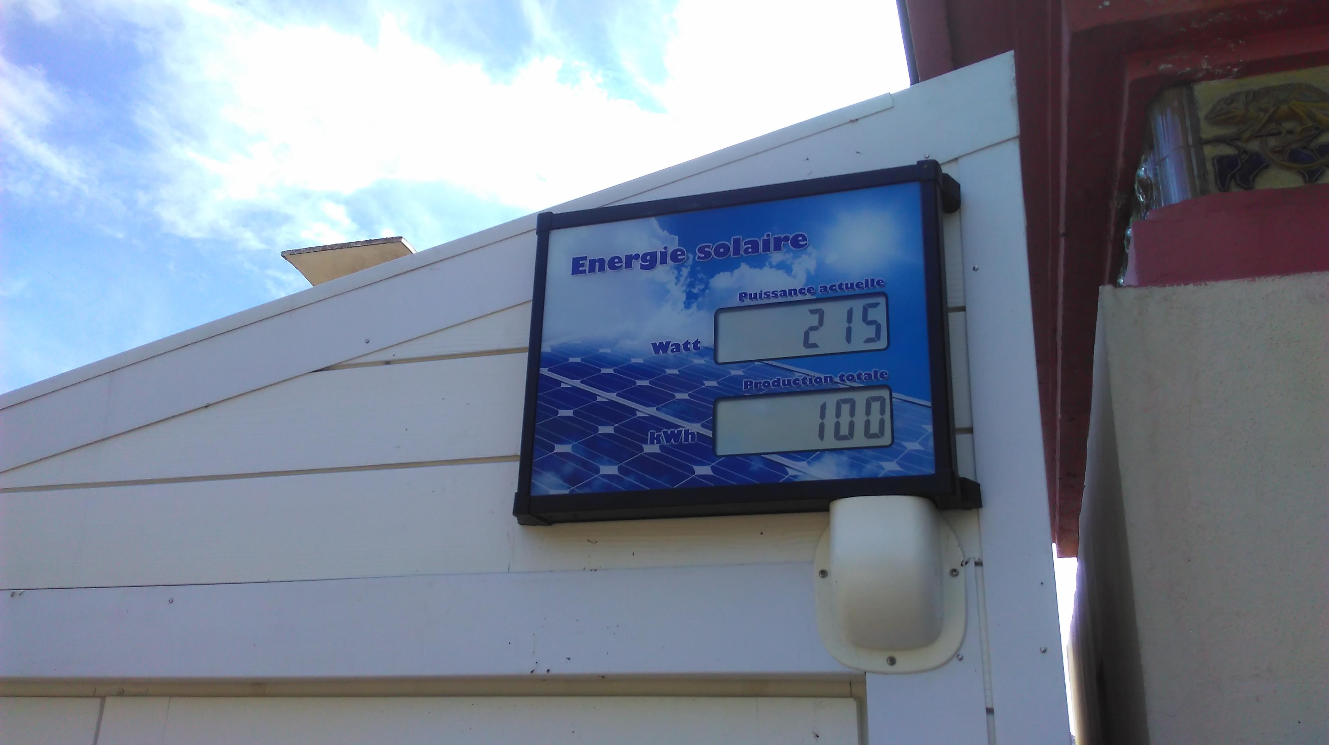 Compteur installation photovoltaïque